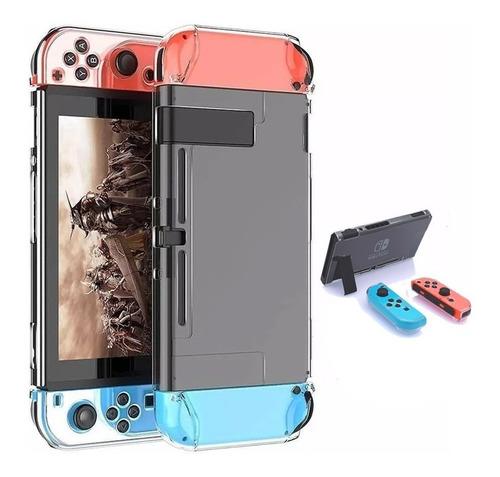 Bomper Protector Carcasa Case Cristalino Nintendo Switch