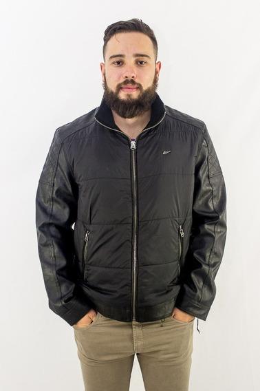 Jaqueta Ellus Leather Denim Nylon Quilte Revenda Autorizada