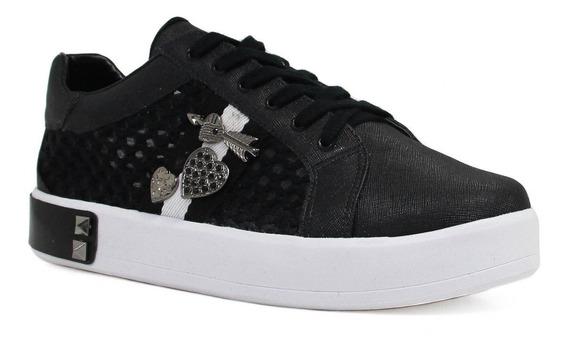 Tênis Feminino Zariff Shoes Flatform Metais