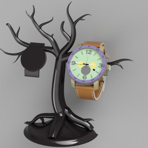 Stand De Exibição Forma De Arvore Relógio Ou Pulseira