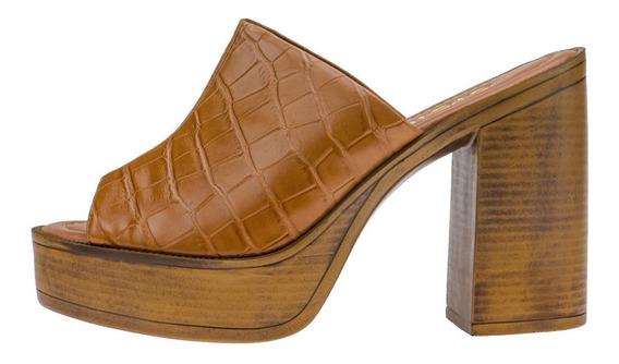 Sandalias Femininas Sapato Tamanco Mule Salto Grosso Alto Plataforma Tratorada Block Sola Emborrachada Macia Confortavel