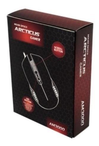 Mouse Óptico Usb Gamer 3000 Dpi 6 Botões Arcticus Am3000