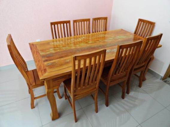 Mesa 6 Cadeira Madeira. Promoção.