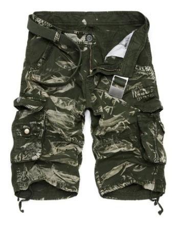 Homens Bermuda Shorts Exercito Militares Algodão Tático