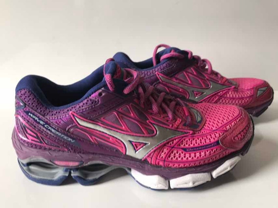 Tênis Mizuno Wave Creation 19 Feminino Original Rosa