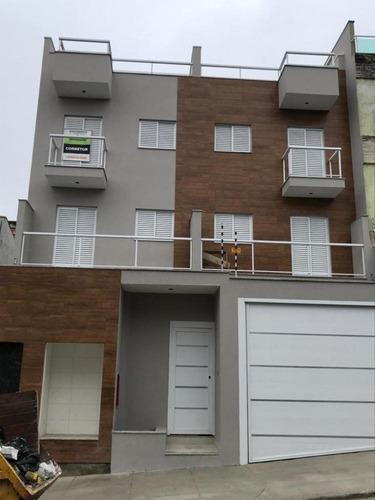 Imagem 1 de 4 de Cobertura Nova  No Bairro Santa Maria - Santo André-sp - 3361