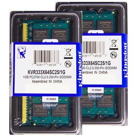 Memória Kingston Ddr1 1gb 333 Mhz Notebook 16 Chips 2.5v