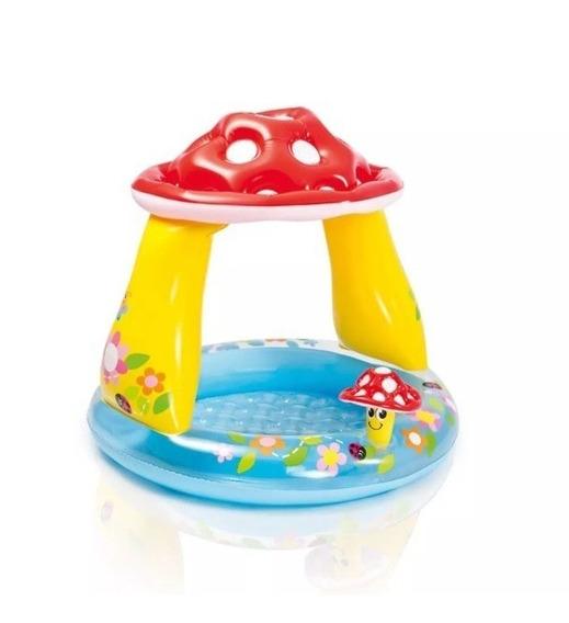 Piscina Inflável Infantil Cogumelo C/ Cobertura -intex 57114