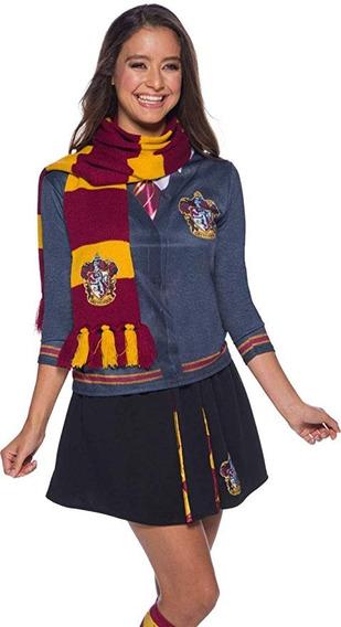 Bufanda Harry Potter Adulto Deluxe Gryffindor Mujer Hombre
