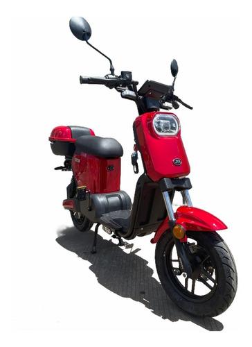 Imagen 1 de 5 de Motocicleta Electrica Jia E-go Autonomia 70km 50km/h Roja