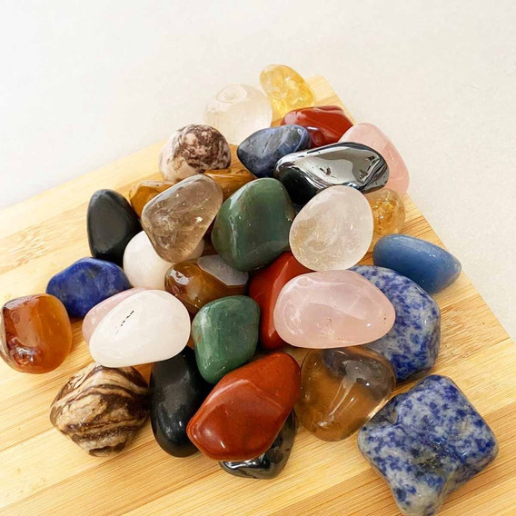 Pedras Roladas Naturais E Semipreciosas - 1kg De 3cm A 4cm
