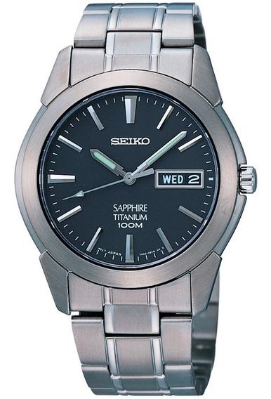 Relógio Seiko Titânio E Safira Masculino Sgg731b1 P1sx