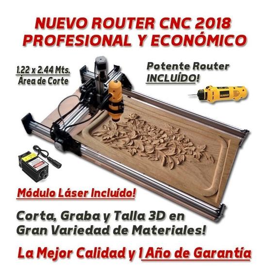 Router Cnc Armado 122x244 Con Laser Cortador Madera Acrilico
