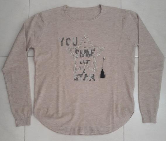 Sweater Mujer Estrella Marrón Talle Único