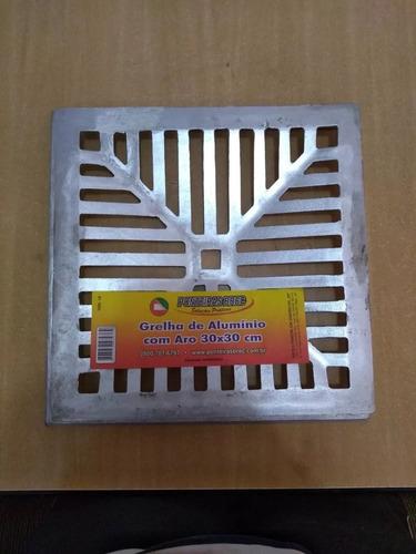 Ralo Grelha De Alumínio Com Aro 30x30 Cm