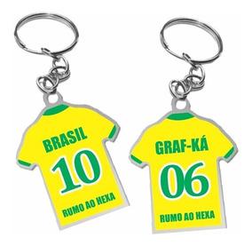 Chaveiro Lembrancinha Personalizado - Camisa -02 Lados 50un