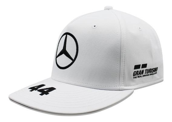 Gorra Mercedes Benz Lewis Hamilton 44 Petronas Blanco