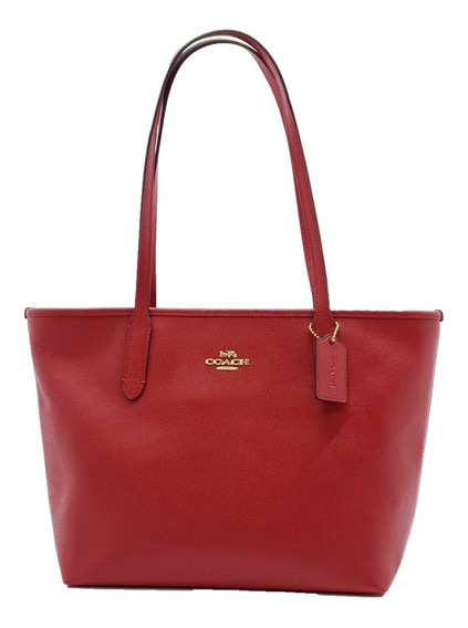 Bolsa Coach Tote Zip True Red