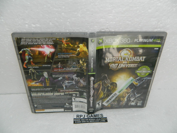 Mortal Kombat Vs Dc Universe Original Midia Fisica Xbox 360