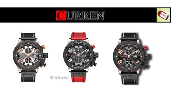 Reloj Curren Original Multifuncion Calendario Cronografo