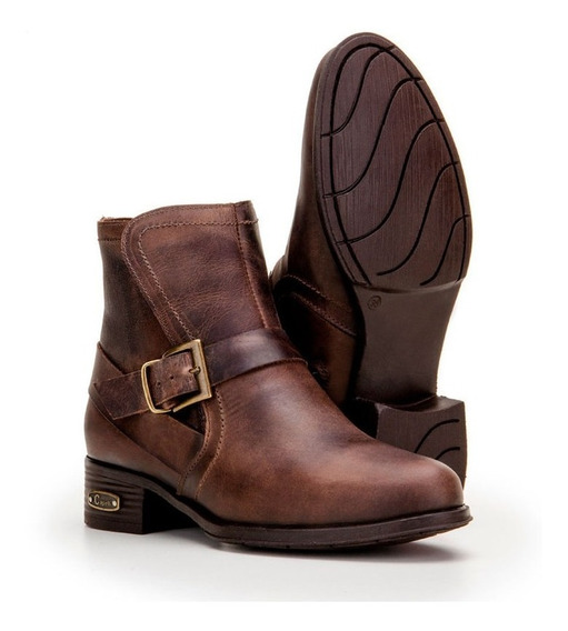 Bota Ankle Boot Feminina Sem Cadarço 4c3042ppre