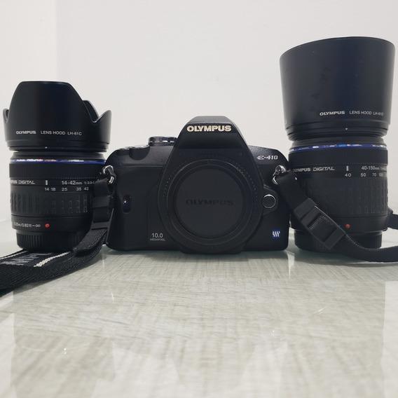 Máquina Fotográfica-olympus E-410 C/ 2 Objetivas E Flash