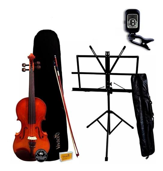 Violino 4/4 Vivace Mo44 Kit + Estante + Afinador Oferta!