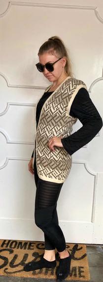 Chaleco Christian Dior Original Lana Excelente Calidad M