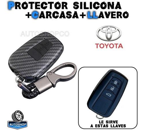 Carcasa Forro Protector Llave Toyota Prado 3 Botones Llavero