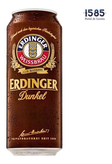 Cerveza Erdinger Dunkel 500ml Lata X 12 - mL a $12