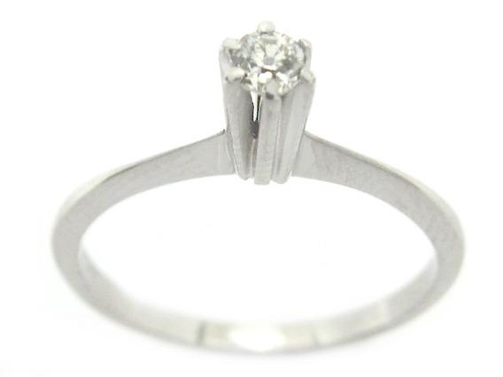 Joianete A9117-01804 Solitário Ouro Branco Diamante 7pts