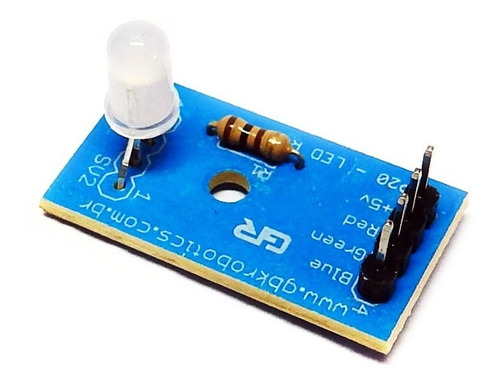 Modulo Led Rgb Anodo Comum P20 Gbk Robotics
