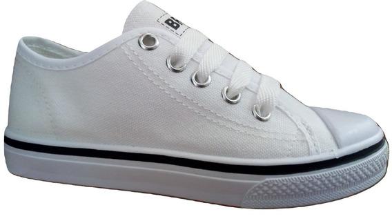 Tenis Económico Tipo Converse (choclo) Unisex Bresa Blanco