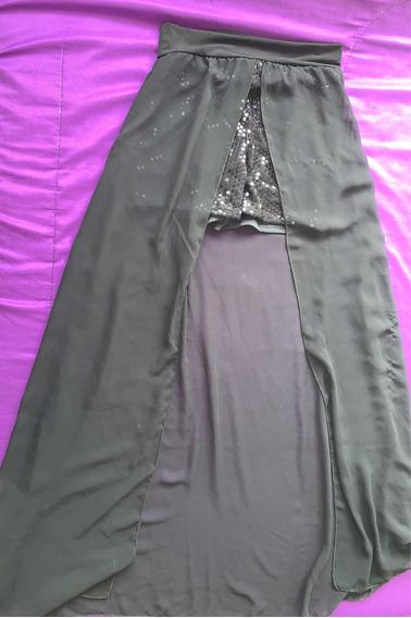 Vestido Short Elegante Largo Negro