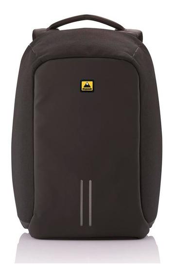 Mochila Antirrobo Skypeak Negra Para Laptop 15 Funda Lluvia
