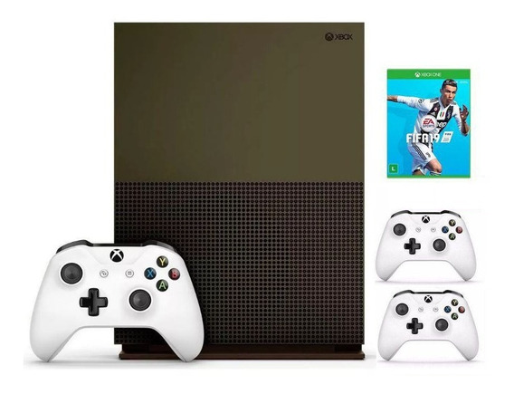 Xbox One S 1tb 4k C/ 2 Controles Originais + Fifa 19