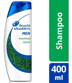 Shampoo Head & Shoulders Anticaspa Menthol Sport Masculino -