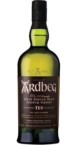 Whisky Single Malt Ardbeg 10 Anos 750 Ml