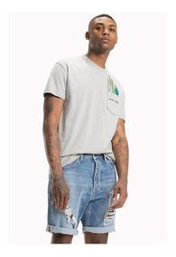 Tjm Summer Pocket Detail Tee - Tommy Jeans - 1090880 - Gris