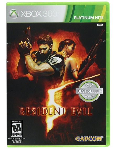 Resident Evil 5 Xbox 360 Jogo Original Completo Mídia Física