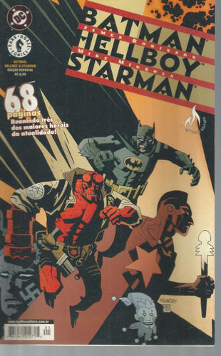 Batman Hellboy Starman Dc Comics Dark Horse Mythos 2001
