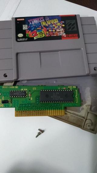 Tetris E Dr. Mario 100% Original De Super Nintendo
