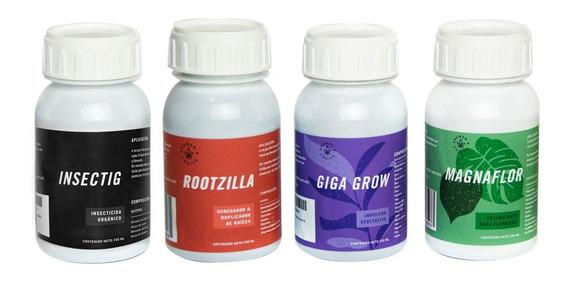 Kit Básico Autocultivo Hidroponia Growshop 250ml