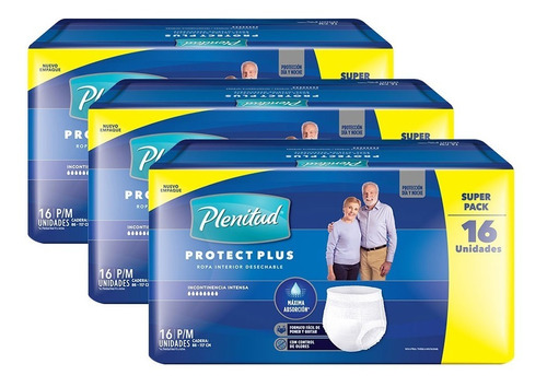 Plenitud Protect Plus Ropa Interior X 16 Pack X 3