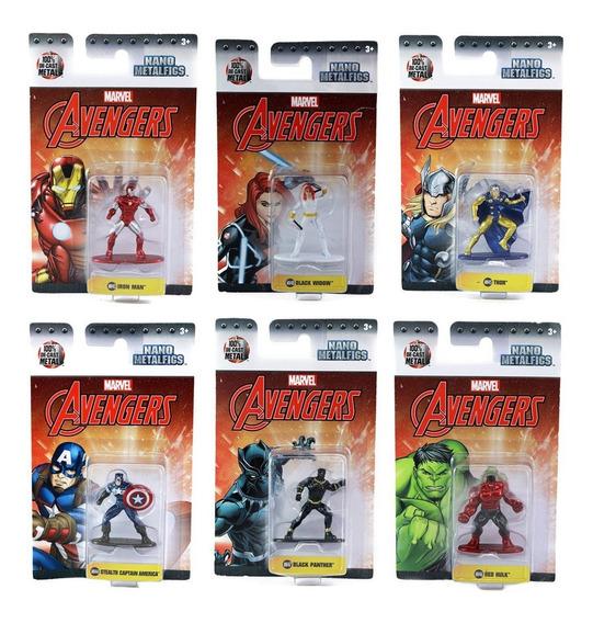 6 Figuras Nano Metalfigs Marvel Avengers Hulk Capitan Thor