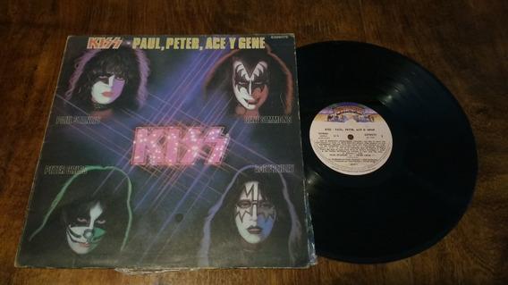 Kiss Paul Peter Ace Y Gene Lp Vinilo Disco