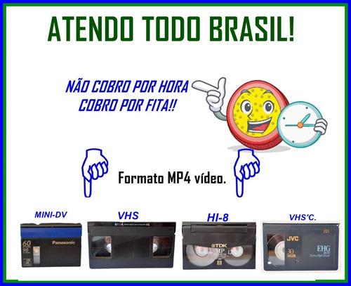 Conversão De Fitas Vhs, Hi8, Mini Dv E Vhs'c Para Mp4 Vídeo.