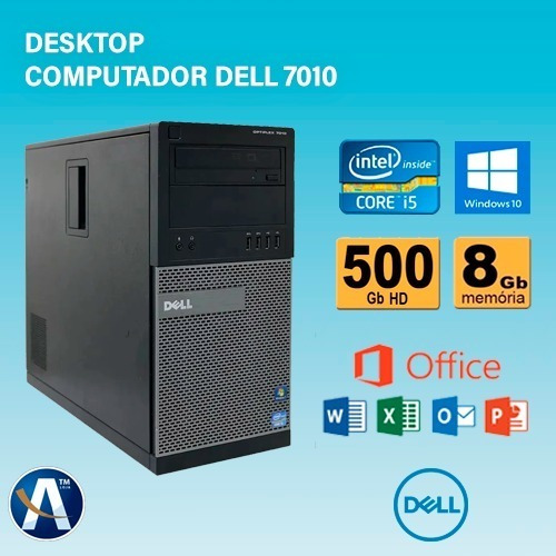 Desktop Computador Dell 7010 Core-i5 3° - 8gb Ram Hd 500gb