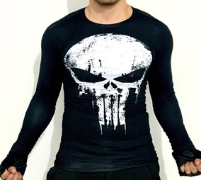 Playera Punisher Marvel Avengers Licra Compresion Crossfit