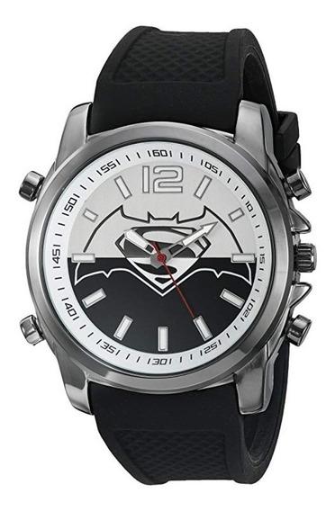 Reloj De Manecillas Batman Vs Superman Dc Comics Negro